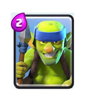 Carte Gobelins à lance Clash Royale (Spear Goblins)