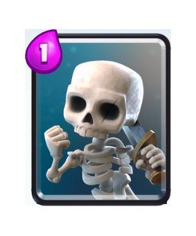 Carte Squelette Clash Royale (Skeletons)