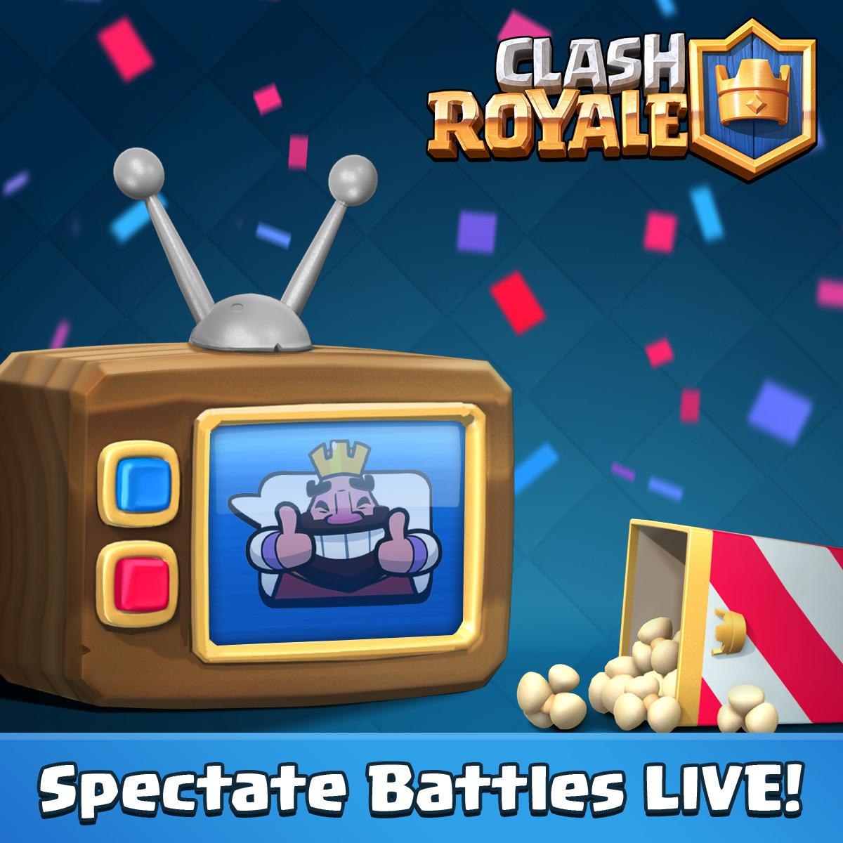 MàJ de Mai Clash Royale #1 : Combats en direct et TV Royale par arène