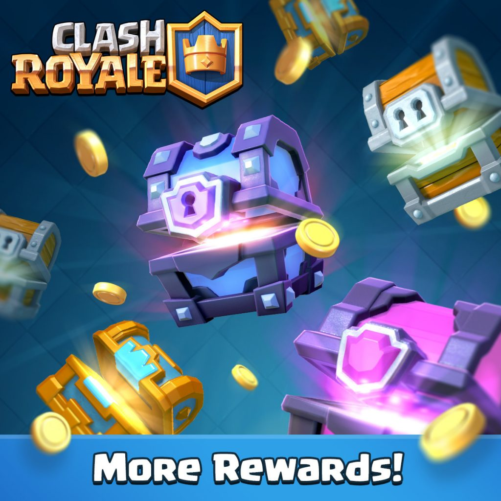 Plus de récompenses sur Clash Royale