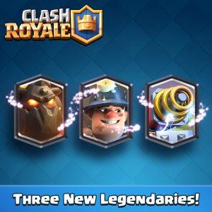 Trois nouvelles cartes légendaires clash royale