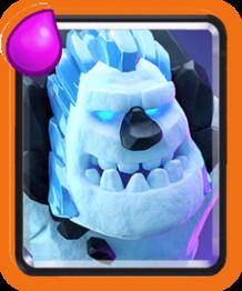 Golem de Glace (Ice Golem) carte rare Clash Royale