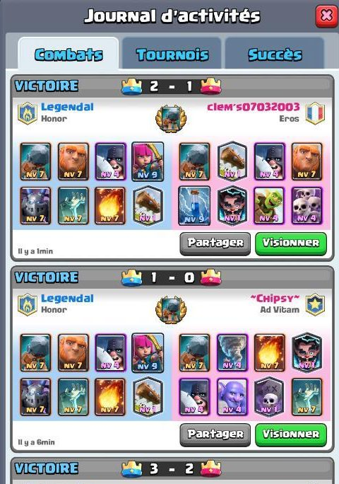 Deck b lier de combat pour 12 victoires au d fi guide for Clash royale deck molosse