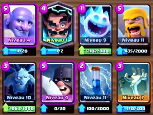 Les meilleurs decks de clash royale for Meilleur deck arene 4