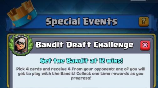 Le Défi du Bandit arrive ! Débloquez la carte Légendaire !