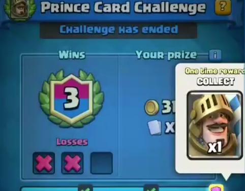 Le «Défi de la carte Prince» le 26 Avril sur Clash Royale !