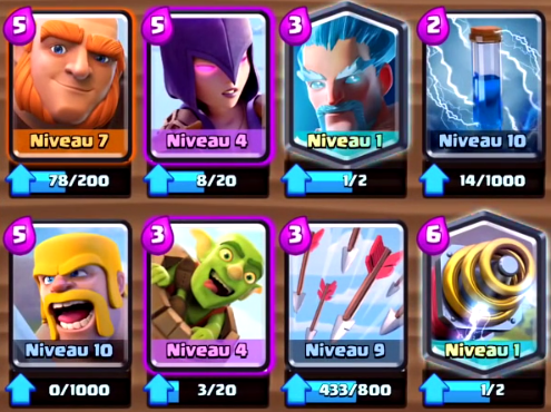Les meilleurs decks de clash royale for Clash royale deck arc x
