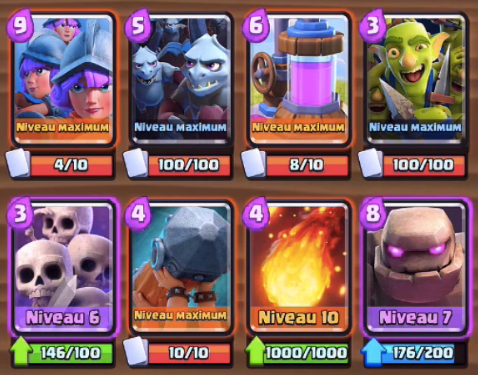 Deck defi triple elixir clash royale 12 victoires au for Clash royale meilleur deck arene 7